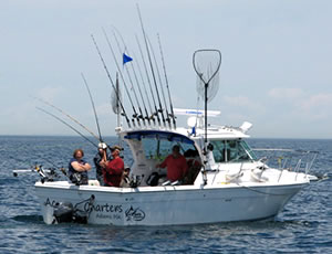 "The ""Ace"" is perfectly equipped Lake Ontario charter fishing boat to handle those big lake king salmon and more."