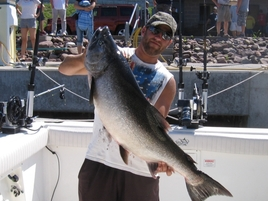 Lake Ontario fishing charters produced this monster king