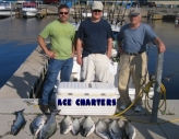 Ace Charters clients with Lake Ontario fish