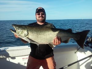 Justi Furbush 34lb plus king salmon