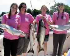 Lake Ontario Fishing Charters for the Ladies