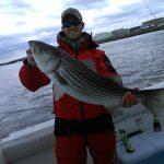 striper caught while drifting