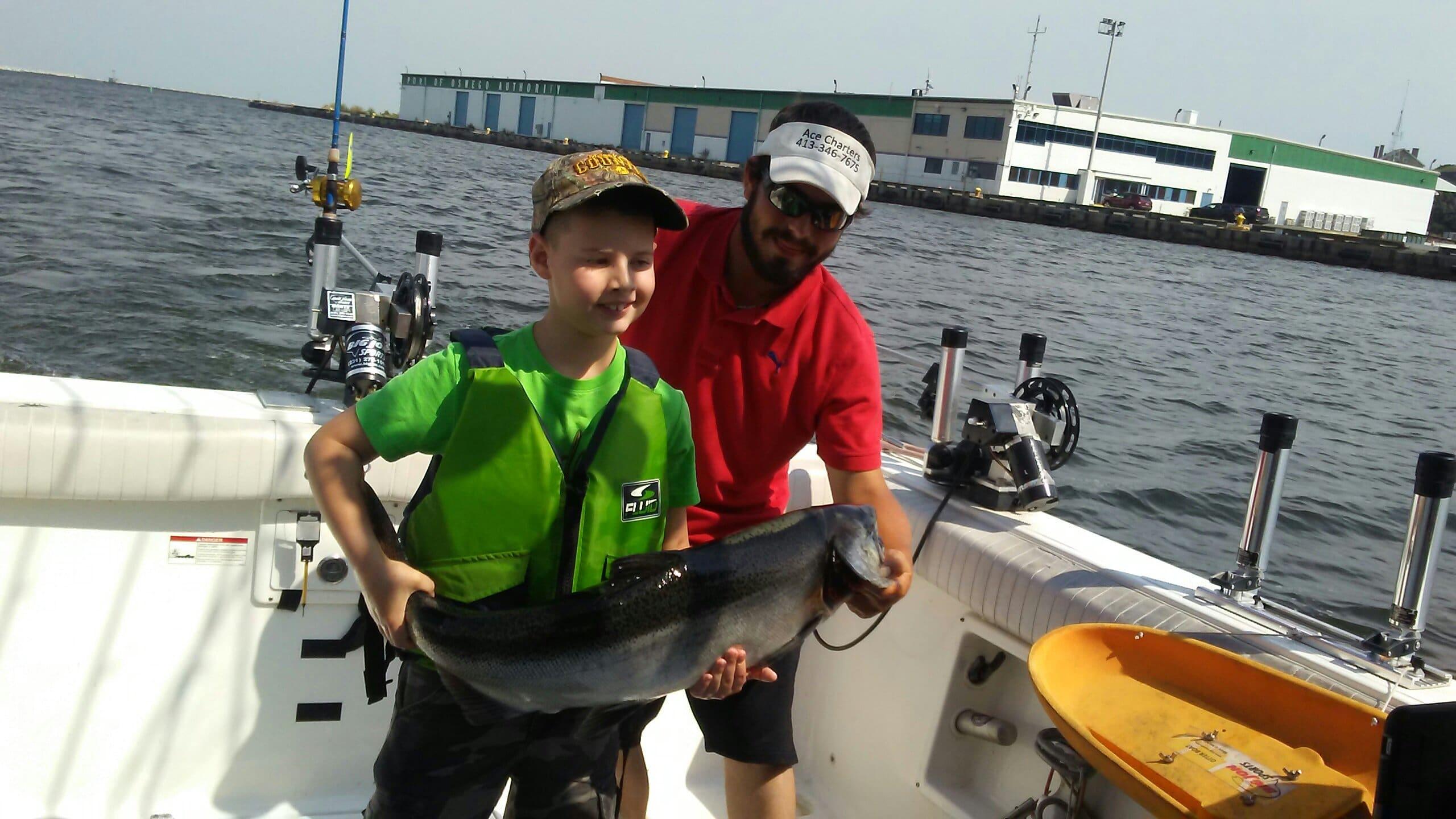 August salmon fishing on lake Ontario