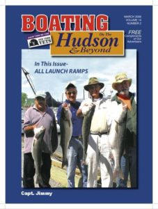 Capt. Jimmy on the Cover of Boating on The Hudson Magazine