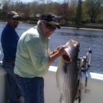 """Adrian scantleberry with 41"""" striped bass"""